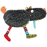 Ebulobo Velká látková knížka Hladový vlk - Textilní hračka