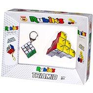 Rubikova kostka přívěšek + skladánka Triamid