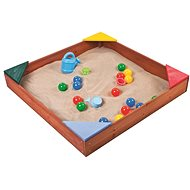Paradiso wooden sandbox with plastic corners - Sandpit