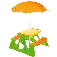 Picknicktisch & Bank incl. Sonnenschirm