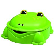 Grüner Frosch mit Abdeckung