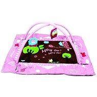 Ludi Hrací deka s mantinelem a hrazdou Sova růžová - Hrací podložka