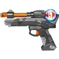 Simba Planet Fighter zbraň 22cm šedo-oranžová