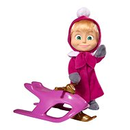 Simba Masha and bear Doll Masha and snowmobile