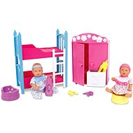 Simba New Born Baby Kids Room + 2 Dolls (Drinks & Whisks)