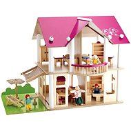 Simba Wooden villa with furniture and dolls