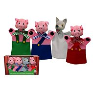 Box of puppets - Three pigs and a wolf - Set
