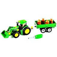 Klein John Deere Tractor with trailer - Toy Vehicle