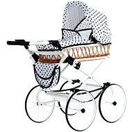 Teddies Stroller Monika Retro white with dots - Doll Stroller