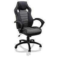 HAWAJ Deluxe racing šedo/černá - Kancelářská židle