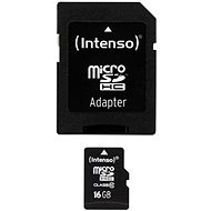 Intenso MicroSDHC 16GB Class 10 + SDHC adaptér - Paměťová karta
