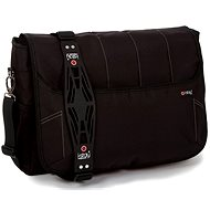 "i-Stay Black 15.6 ""& Up to 12"" Laptop / Tablet Messenger Bag"