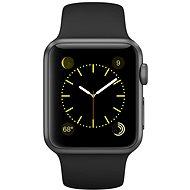 Apple Watch Šport 38mm Vesmírne šedý hliník s čiernym remienkom