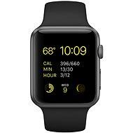 Apple Watch Šport 42mm Vesmírne sivý hliník s čiernym remienkom