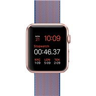 Apple Watch Šport 42mm Ružovo zlatý hliník s kráľovsky modrým remienkom z tkaného nylonu