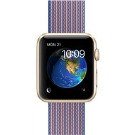 Apple Watch Šport 42mm Zlatý hliník s kráľovsky modrým remienkom z tkaného nylonu