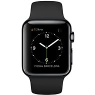 Apple Watch 38 mm stainless steel cosmic black with black strap