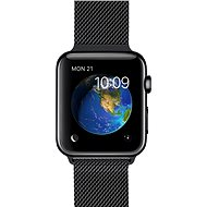 Apple Watch 38 mm cosmic black stainless steel with a cosmic black pulling Milan