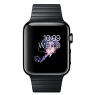 Apple Watch 38 mm cosmic black steel with a cosmic black with articulated tension