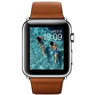 Apple Watch 42 mm Antikorová oceľ so sedlovohnedým remienkom s klasickou prackou