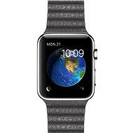 Apple Watch 42mm Nerez ocel s bouřkově šedým koženým řemínkem - velikost L