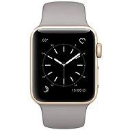 Inteligentné hodinky Apple Watch Series 1 38mm Zlatý hliník s cementovo šedým športovým remienkom