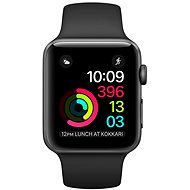 Apple Watch Series 1 38 mm cosmic gray aluminum with a black sport strap