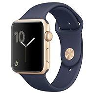 Apple Watch Series 1 38mm Aluminiumgehäuse, Gold mit Sportband, Mitternachtsblau - Smartwatch