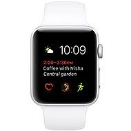 Apple Watch Series 1 42mm Stříbrný hliník s bílým sportovním řemínkem - Chytré hodinky
