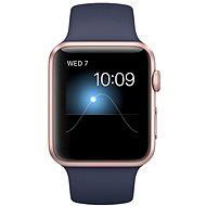 Apple Watch Series 1 42mm Růžově zlatý hliník s půlnočně modrým sportovním řemínkem - Chytré hodinky