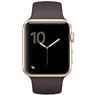Apple Watch Series 1 42mm Zlatý hliník s kakaově hnědým sportovním řemínkem - Chytré hodinky