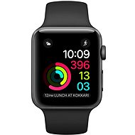 Apple Watch Series 1 42 mm cosmic gray aluminum with a black sport strap