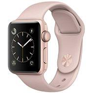 Apple Watch Series 1 42mm Aluminiumgehäuse Rose Gold mit Sportarmband Sandrosa - Smartwatch