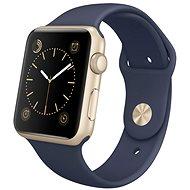 Apple Watch Series 1 42mm Zlatý hliník s půlnočně modrým sportovním řemínkem - Chytré hodinky