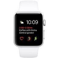 Apple Watch Series 2 38 mm Aluminiumgehäuse Silber mit weißem Sportarmband