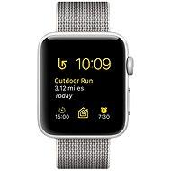 Apple Watch Series 2 38mm Strieborný hliník s perlovo šedým remienkom z tkaného nylonu