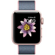 Apple Watch Series 2 38 mm Rose gold aluminum with pale pink / midnight blue strap made of woven nylon