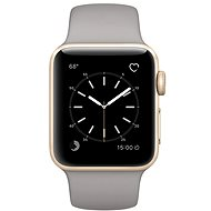 Apple Watch Series 2 38mm Gold Aluminum Case with Concrete Sport Band - Smartwatch