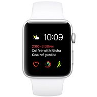 Apple Watch Series 2 42mm Aluminium Silver Case with White Sport Band - Smartwatch