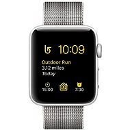 Apple Watch Series 2 42 mm aluminum with silver pearl gray strap made of woven nylon