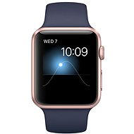 Apple Watch Series 2 42 mm Rose gold aluminum with a midnight-blue sports strap