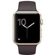 Apple Watch Series 2, 42mm Gold Aluminum Case with Cocoa Sport Band