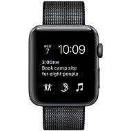 Apple Watch Series 2 42mm Aluminiumgehäuse Space Grau, Armband aus gewebten Nylon schwarz