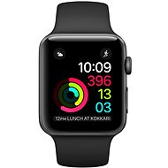 Apple Watch Series 2 38 mm cosmic gray aluminum with a black sport strap