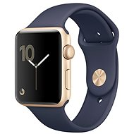 Apple Watch Series 2 42mm Aluminiumgehäuse Gold mit Sportarmband Mitternachtsblau