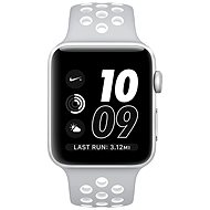 Apple Watch Series 2 Nike + 38mm Silver Aluminum with Matt Silver / White Nike Sport Strap - Smartwatch
