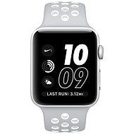 Apple Watch Series 2 Nike+ 38mm Stříbrný hliník s matně stříbrným / bílým sportovním řemínkem Nike