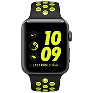 Apple Watch Nike+ Aluminiumgehäuse, SpaceGrau mit NikeSportarmband, Schwarz/Volt 38 mm