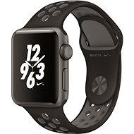 Apple Watch Series 2 Nike + 38mm Vesmírne šedý hliník s antracitovo čiernym športovým remienkom Nike - Inteligentné hodinky