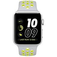 Apple Watch Nike + 42mm Strieborný hliník s matne strieborným / Volt športovým remienkom Nike